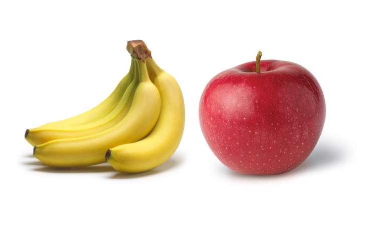 سیب و موز