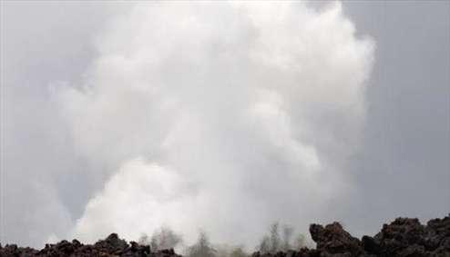 تصاویری از ابرهای سمی در هاوایی