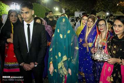جشن سنتی عروس و دامادهای بندری