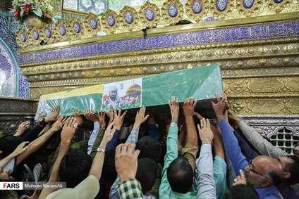 تشیع پیکر شهید مدافع حرم زینبیون در قم