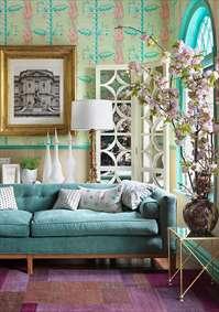 سمفونی رنگها در طراحی داخلی: آبی فیروزهای