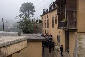 رسم سنجزنی در شهر تاریخی ماسوله