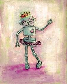 نقاشی اسکرپ بوکی – قهرمان ربات کشیدن باشیم