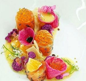 تبدیل مواد غذایی به آثار هنری زیبا
