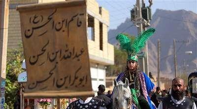 کاروان نمادین کربلا در روستای سهروفیروزان اصفهان