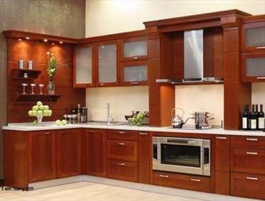 چیدمان «L شکل» کابینتهای آشپزخانه