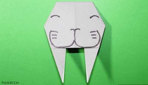 "اوریگامی ""شیر دریایی"""