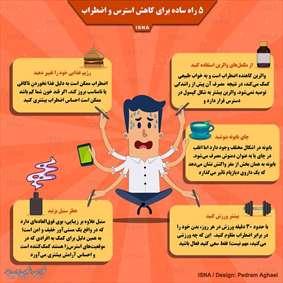 ۵ راه ساده برای کاهش استرس و اضطراب