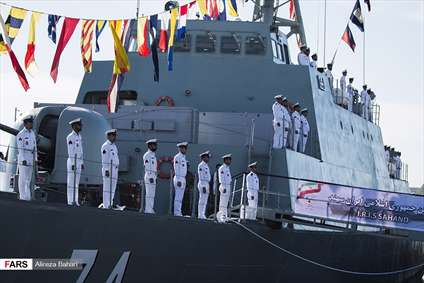 الحاق ناوشکن سهند به نیروی راهبردی دریایی ارتش