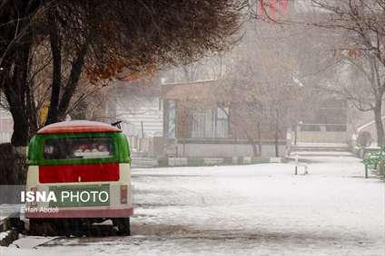 بارش برف زمستانی در استان تبریز