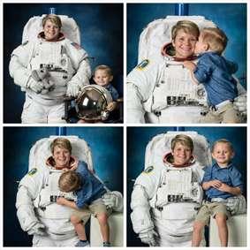 فضانورد ناسا با فرزندش