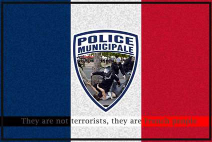 پوستر برای مردم فرانسه
