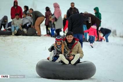 حال و هوای برفی همدان