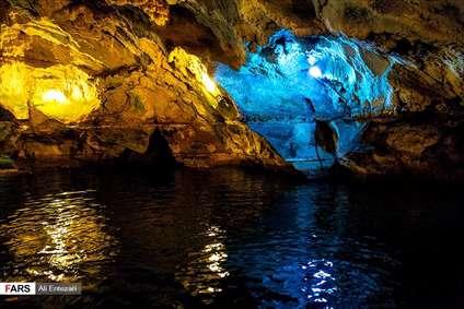 غار آبی سهولان مهاباد
