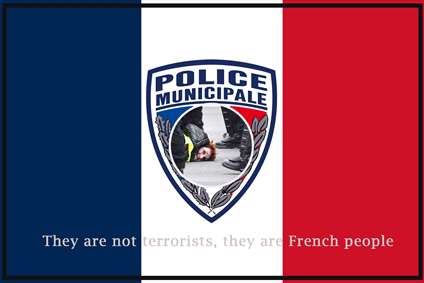 پوستر خشونت پلیس فرانسه