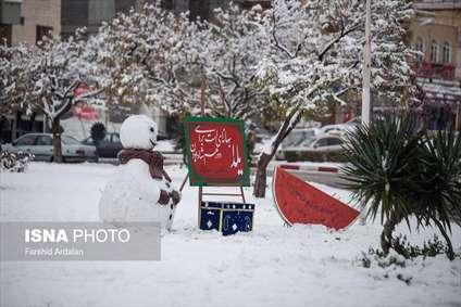 بارش برف در آخرین روزهای پاییز