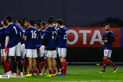 آخرین تمرین تیم ملی فوتبال قبل از بازی با تیم ملی عمان