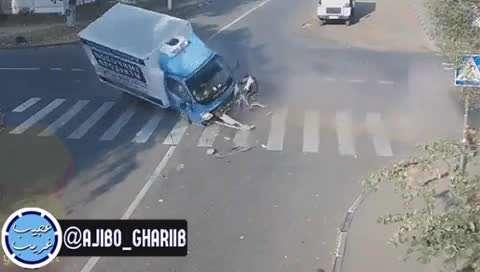 تصادف دوچرخه سوار