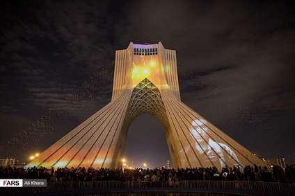 نورافشانی برج آزادی تهران