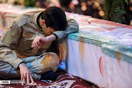 مراسم وداع با شهدای حادثه تروریستی زاهدان