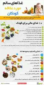 غذای سالم مورد علاقه کودک