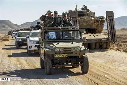 بازدید فرمانده نیروی زمینی ارتش از نیروهای عملیاتی رزمایش اقتدار97