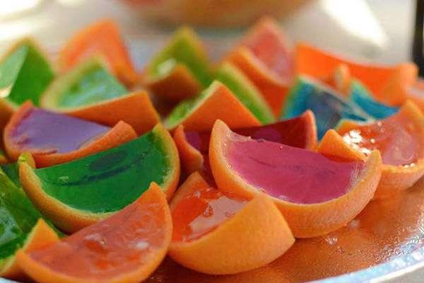 ژله داخل پوست پرتقال، پرتقال، ژله میوه ای، ژله
