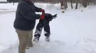 برف بازی با پدرها
