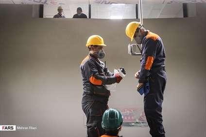 کارگران، زیر زمین مشغول کارند!