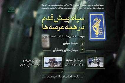 سپاه پیشقدم در همه عرصهها