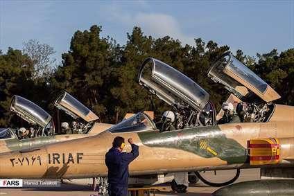 رژه تمرینی جنگنده های نيروی هوايی ارتش