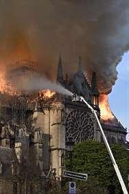 سوختن کلیسای نوتردام فرانسه