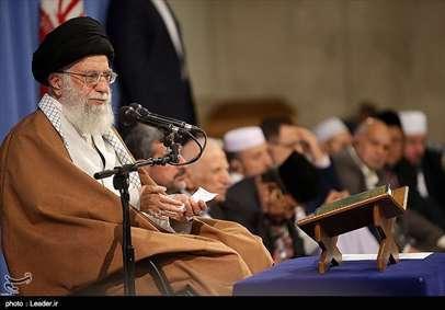 دیدار شرکتکنندگان درمسابقات بینالمللی قرآن با رهبر معظم انقلاب