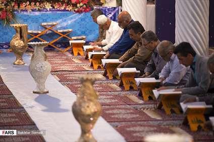 جزءخوانی قرآن کریم در مسجدجامع سنندج