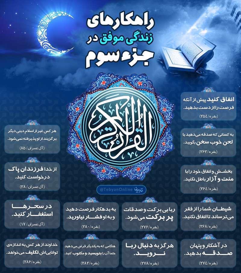 جزء سوم، قرآن، راهکارهای زندگی موفق، نکات کلیدی،