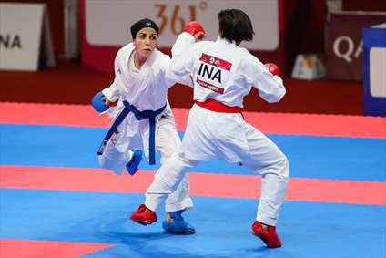 اولین طلای ایران در لیگ جهانی کاراته