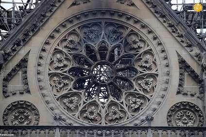 کلیسای نوتردام پس از آتش سوزی