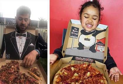 بسته بندی متفاوت و جالب پیتزا