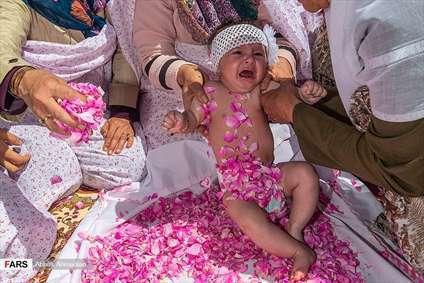 آیین گلغلتان نوزادان در امیریه