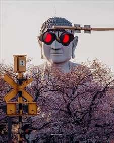 تصویری جالب از مجسمه بودا در چین