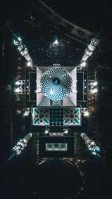 مسجد از نمای بالا