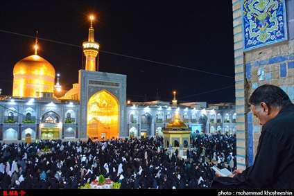 شب قدر در مشهد ، حرم مقدس رضوی