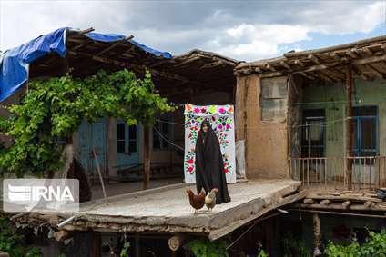 پرده های سنتی شهر خرو