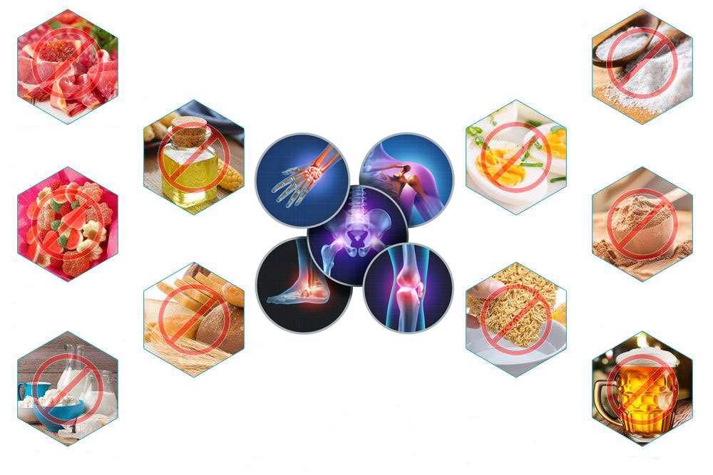 مواد غذایی مضر در درد مفاصل