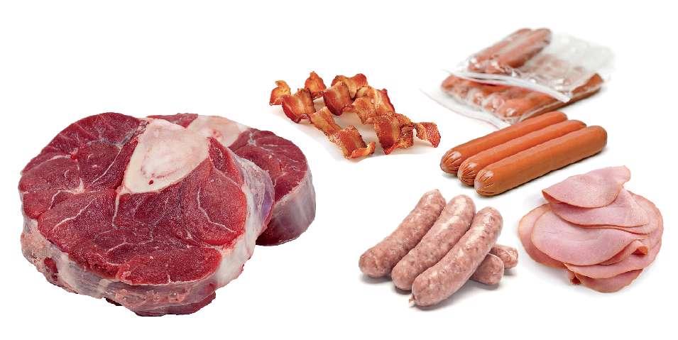گوشت های قرمز و فراوری شده