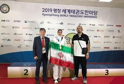کسب مدال طلای جهانی تکواندو با پای شکسته