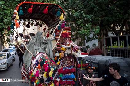 ورود نمادین کاروان امام حسین(ع) به کربلا
