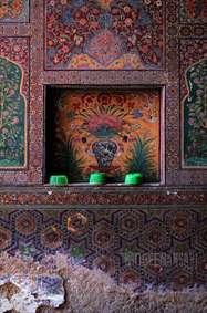 نقاشی روی دیوار طرح کاشی