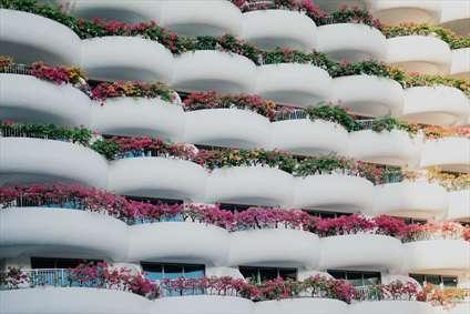 نمای گل ساختمان
