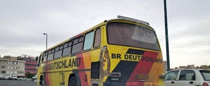 اتوبوس تیم ملی آلمان در تهران